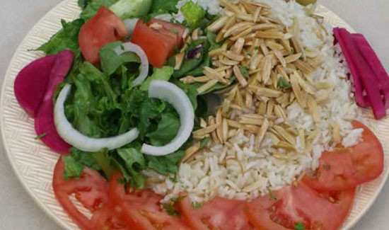 Rice Almond Salad