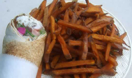 Sub With Sweet Potato Fries